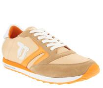 Sneaker, Textil-Leder-Mix, Plastik-Ferse, Gelb