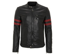Lederjacke, Biker-Stil, echtes Leder, Brusttaschen