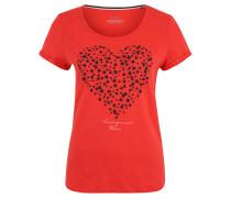 T-Shirt, Front-Print, Baumwolle, Rundhalsausschnitt