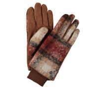 Handschuhe, Veloursleder, Fleece, Rippbund