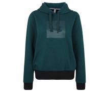 THREADBORNE Sweatshirt, Kapuze, Ripp, für Damen, Grün