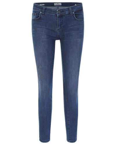 """Jeans """"Mina"""", Slim Fit, Used-Look, unifarben"""
