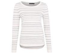 Pullover, Streifenmuster, reine Baumwolle, Silber