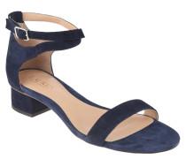 Sandaletten, Rauleder, Riemchen, Blau