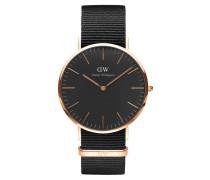 Classic Black Armbanduhr Cornwall