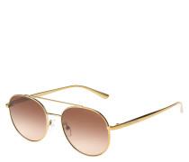 """Sonnenbrille """"MK 1020"""", Piloten-Stil, goldenes Gestell"""