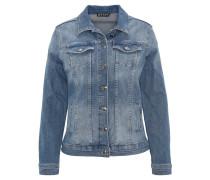 Jeansjacke, Stretch, Used Look, Taschen, Klappkragen, Blau