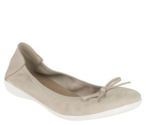 Ballerinas, Leder, Schleife, elastischer Einstieg