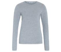 Pullover, breit gerippt, Rundhals, Grau