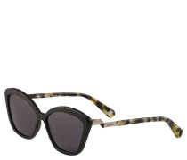 Sonnenbrille, Cat-Eye-Design, grau getönt