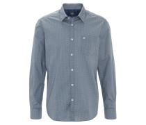 Hemd, gemustert, Brusttasche, Blau