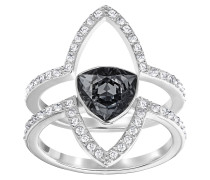 Fantastic Damenring-Set Crystal Silver Night 5257506, 2-teilig