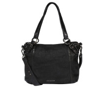 "Handtasche ""Urban Style"", Leder, Strukturmix, Schwarz"