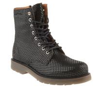 Boots, Sternen-Muster, Reißverschluss, Schwarz