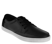 "Sneaker ""Ciren"", Bootsschuh Stil, Leder, Blau"