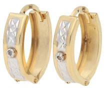 Creolen, Diamanten, 375er Gold