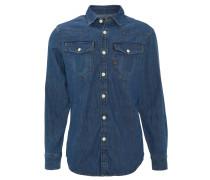 """Jeans-Hemd """"3301 Slim"""", Brusttaschen, Blau"""