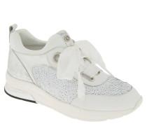 """Sneaker """"Running Cara"""", Pailletten, Glanz-Details, Emblem, Weiß"""
