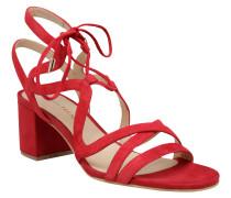 Sandaletten, Schnürung, Blockabsatz, Rot