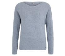 Pullover, Rippstrick, lockere Passform, Blau