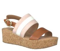 Sandaletten, Plateau-Absatz, Streifen-Design