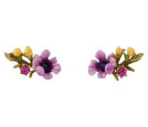 Ohrringe Lila Blume auf geblühten Zweig ADFS112T