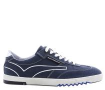 Sneaker, Leder, Blau