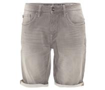 Jeans-Shorts, Regular Fit, Knitter-Optik, helle Waschung, Grau