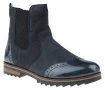 Chelsea Boots, Leder, Warmfutter, Reißverschluss, Blau