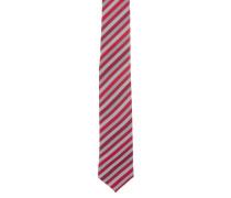 Krawatte, gestreift, reine Seide