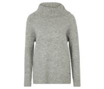 Pullover, meliert, Strick, Rollkragen, Grau