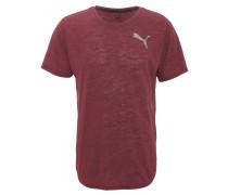 T-Shirt, schnell trocknend, atmungsaktiv, Logo-Print, Rundhals, Schwarz