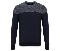Pullover, Baumwolle, Block-Optik, Rundhalsausschnitt