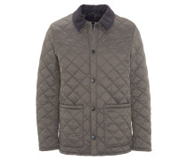 "Jacke ""Pembroke Quilt"", Rautenstepp-Muster, Cord-Kragen, Grau"