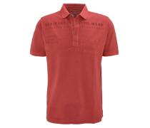 Poloshirt, Knopfleiste, Rot