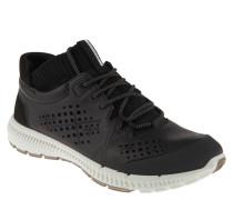 """Sneaker """"Intrinsic"""", Leder-Mix, perforiert, elastischer Einstieg, Schwarz"""