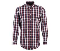 Freizeithemd, Karo-Muster, perforiert