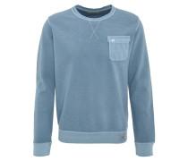 Sweatshirt, Baumwolle, gerippter Stoff, Brusttasche
