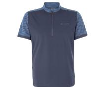 Fahrrad-Shirt, Stehkragen, reflektierende Elemente, Blau