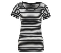 T-Shirt, Bio-Baumwolle, gestreift, Rundhalsausschnitt