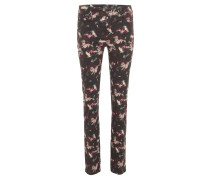 "Hose ""Angela"", Slim Fit, florales Muster, Rot"
