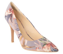 Pumps, florales Muster, spitz, Taupe