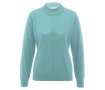 Pullover, Stehkragen, Wolle, für Damen, Blau