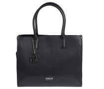 Handtasche, Lederimitat, Anhänger, Emblem, Blau