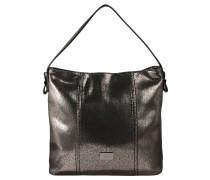 """Handtasche """"Carrara"""", Lederoptik, Metallic-Effekt, Schwarz"""
