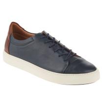 Sneaker, Leder, abgesetzte Kappe, Blau