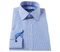 Businesshemd, slim fit, Kent-Kragen, bügelfrei, Blau