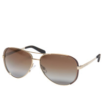 """""""MK 5004 Chelsea"""" Sonnenbrille, Piloten-Design, Verlaufsgläser in braun mit polarisierender Eigenschaft"""