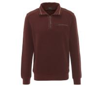 Sweatshirt, kontrastive Nähte, elastische Bündchen, Rot