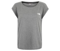 Shirt, für Damen, leichtes Material, Grau